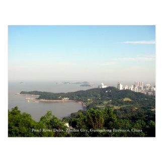 Zhuhai, el delta del río Pearl, provincia de Guang Tarjetas Postales