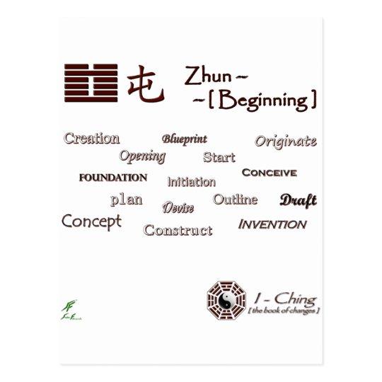Zhun White Postcard