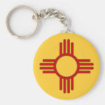 Zia Sun Basic Round Button Keychain