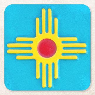 Zia Sun Beverage Square Paper Coaster