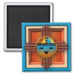Zia Sun Face 2 Inch Square Magnet