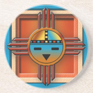 Zia Sun Face Sandstone Coaster