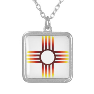 Zia Sun Fire Silver Plated Necklace