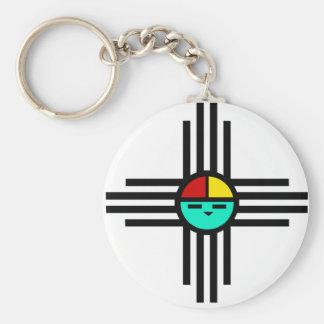 Zia Sun God Keychain