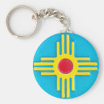Zia Sun Keychain at Zazzle