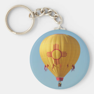Zia Sun Symbol Hot Air Balloon Keychain