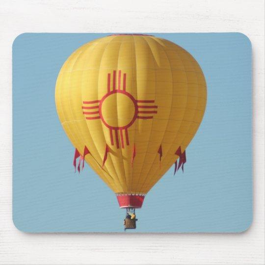 Zia Sun Symbol Hot Air Balloon Mouse Pad