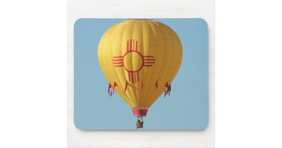 Zia Sun Symbol Hot Air Balloon Mouse Pad Zazzle
