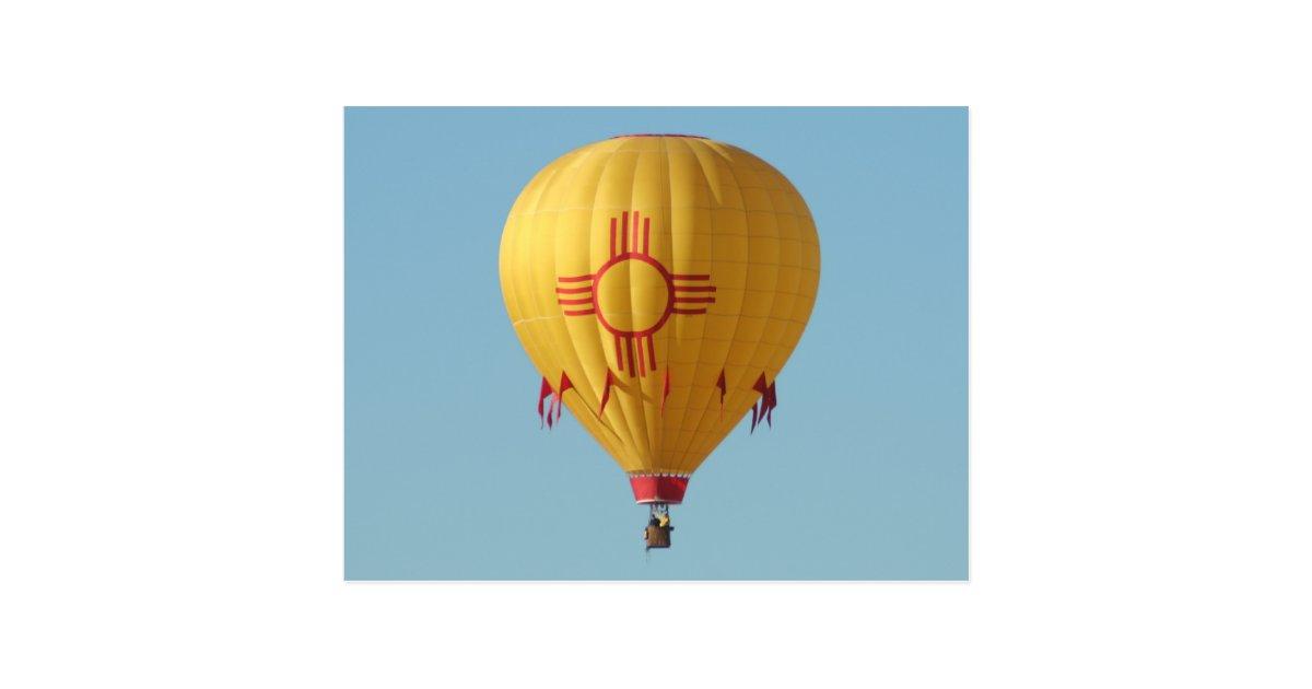Zia Sun Symbol Hot Air Balloon Postcard Zazzle Com