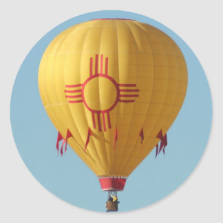 Zia Sun Symbol Hot Air Balloon Sticker