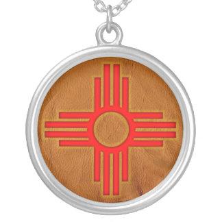 Zia Sun Symbol Silver Plated Necklace