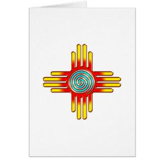 Zia Sun - Zia Pueblo - New Mexico Card