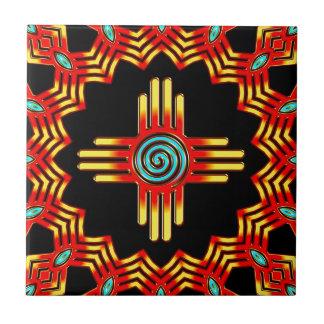 Zia sun - Zia Pueblo - New Mexico Tile