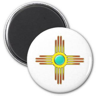 Zia sun - Zia Pueblo - strength symbol Magnet