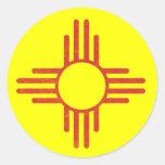 Zia Vintage Round Sticker