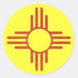 Zia Vintage Round Stickers
