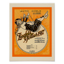 Ziegfeld Follies 1917  Sheet Music Cover Copy Poster