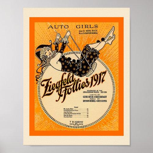 Ziegfeld Follies 1917  Sheet Music Cover Copy