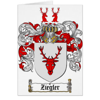 Ziegler Coat of Arms / Ziegler Family Crest Card
