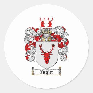 Ziegler Coat of Arms / Ziegler Family Crest Classic Round Sticker