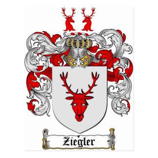 Ziegler Coat of Arms / Ziegler Family Crest Postcard