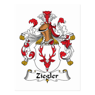 Ziegler Family Crest Postcard