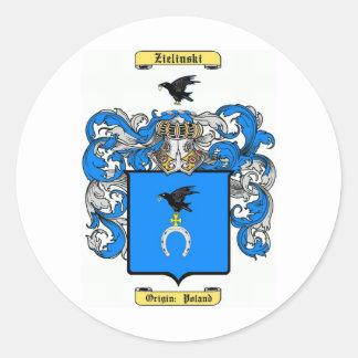 Zielinski Classic Round Sticker