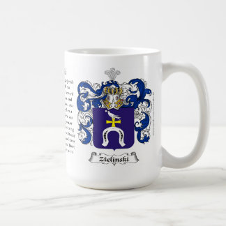 Zielinski, the Origin, the Meaning and the Crest Classic White Coffee Mug