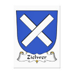 Zielwer Family Crest Stretched Canvas Print