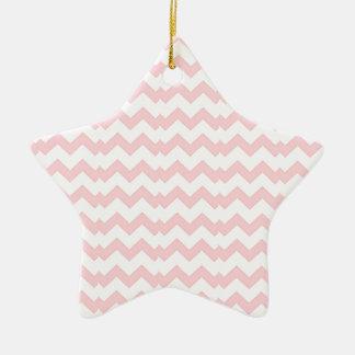 Zig pink and white Zag Ceramic Ornament