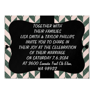 Zig zag abstract pattern personalized invites