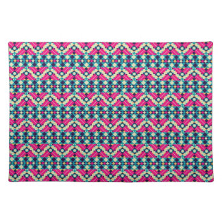 Zig Zag Aztec Andes Tribal Pattern Place Mats