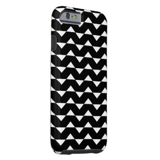 ZIG ZAG BLACK AND WHITE PATTERN iPhone 6 Case