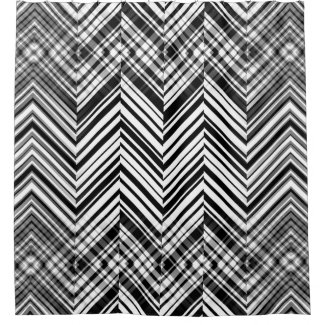 Zig Zag Black and White Shower Curtain