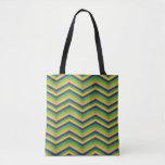 Zig Zag Brazil Design Tote Bag