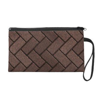 Zig Zag Brick Pattern Wristlet Purse