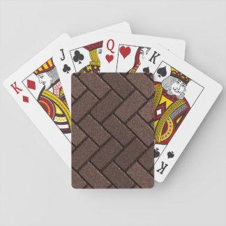 Zig Zag Brick Pattern Playing Cards