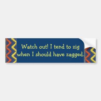 Zig Zag Bumper Sticker