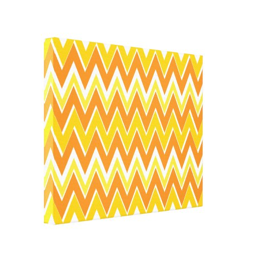 Zig Zag Canvas Artwork Orange Decor by JanLynn Canvas Print
