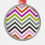 Zig Zag Color Ornaments