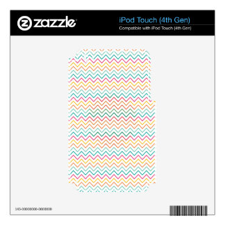 Zig Zag Colour Vintage iPod Touch 4G Skins
