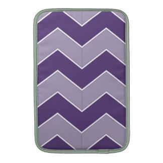 Zig Zag Dark and Light Purple Pattern MacBook Air Sleeves