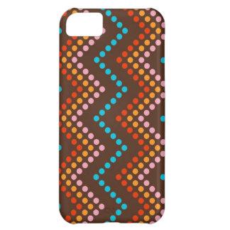 Zig Zag Dot (Chocolate) Skin Case For iPhone 5C