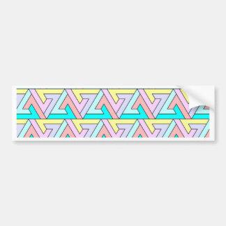 zig zag gentle colors bumper stickers