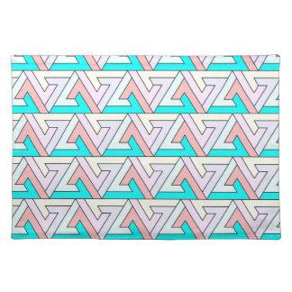 zig zag gentle colors cloth place mat