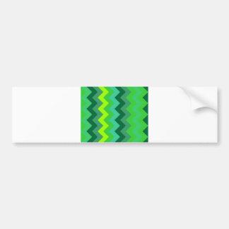 zig zag geometry triangle green pattern abstract car bumper sticker