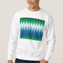 Zig Zag Green Blue Pattern Sweatshirt