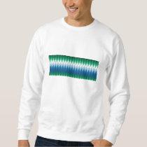 Zig Zag Green Blue Pattern Sweatshirt