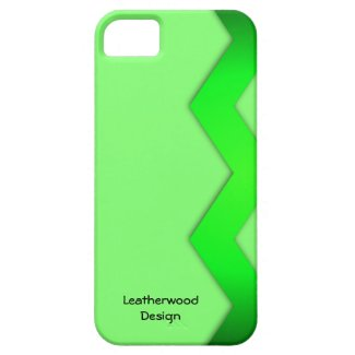 Zig Zag Green Personal iPhone 5/5S Case