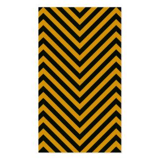 Zig Zag Hazard Striped Business Card